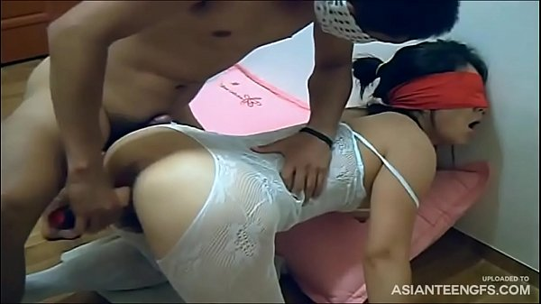 Blindfolded Korean Wife Gets Fucked With A Rubber Cock